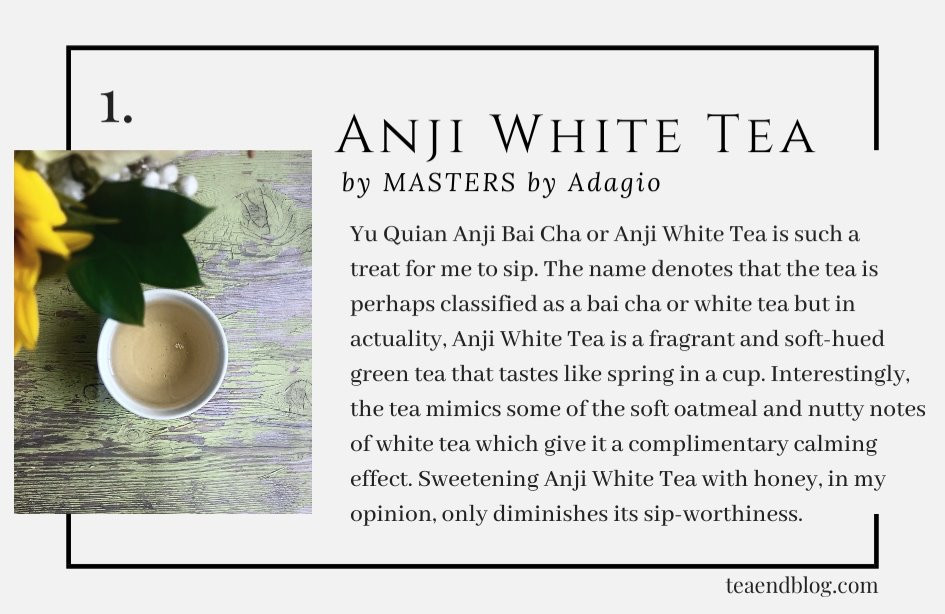 Top Ten Teas of 2019: Anji White Tea by MASTERS by Adagio