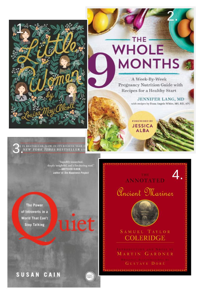 "4 books that Gabie is currently reading: ""Washington's God""   ""One Million Followers""   ""Digital Minimalism""   ""Born A Crime"""