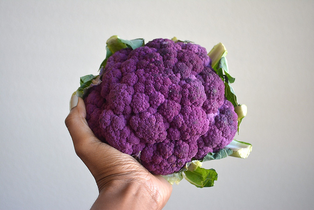 Recipes & DIY | Cauliflower Tea Purée | Head of Purple Cauliflower
