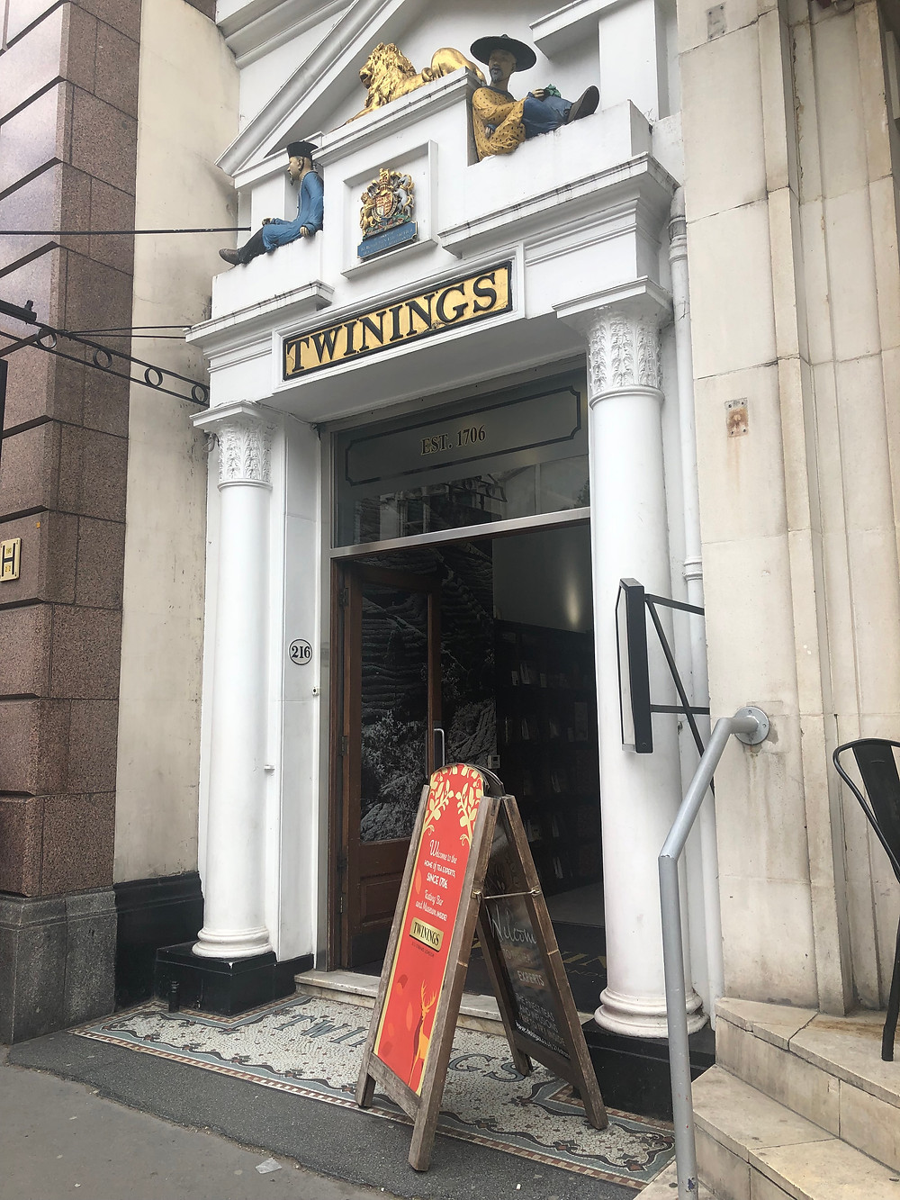 Twinings storefront on Strand