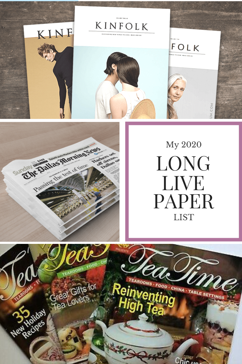 Long Live Paper | 2020