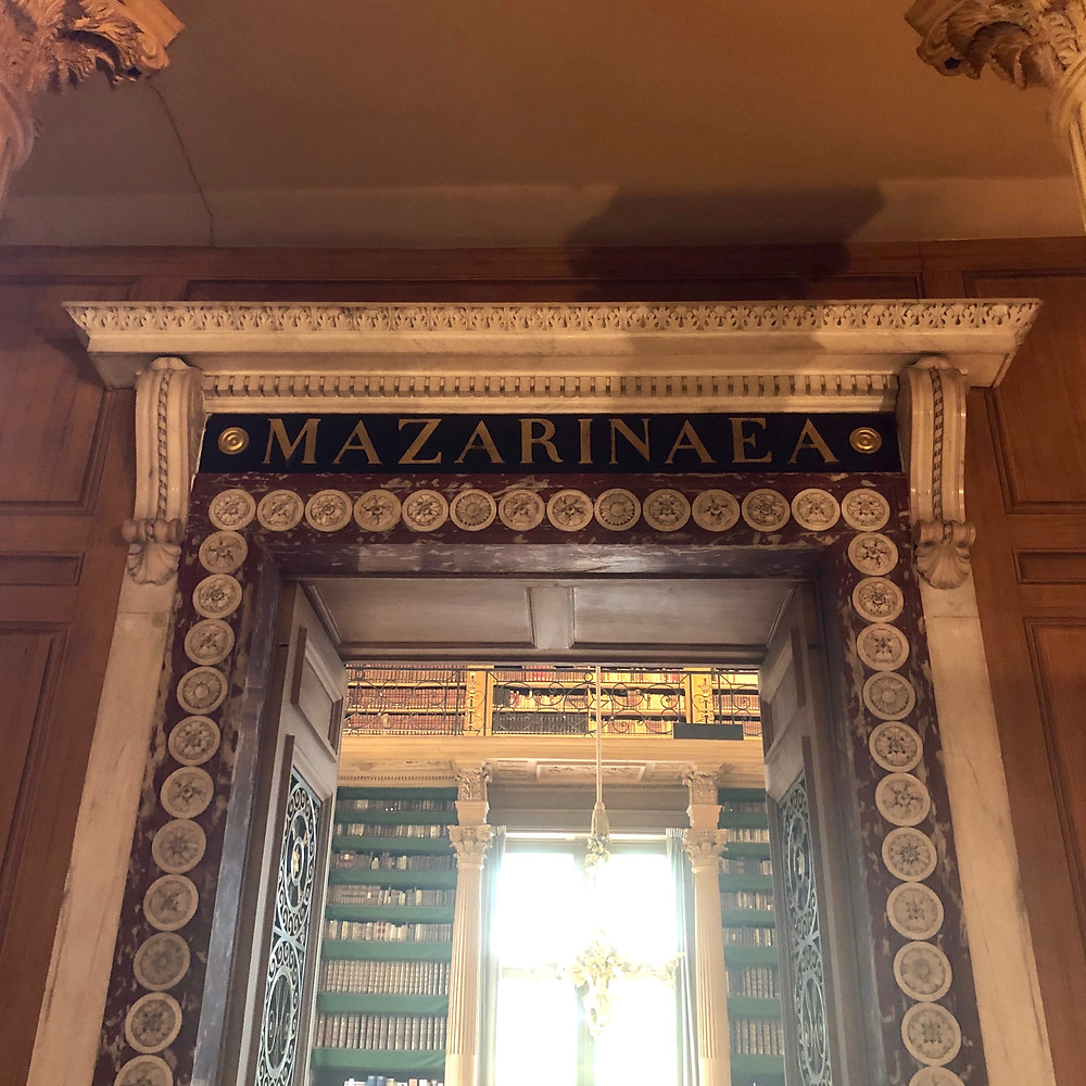 Second entrance to main area of The Mazarin Public Library