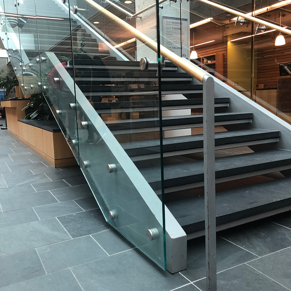 Modern staircase in the Portland Public Main Library