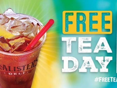 Hip Hip Hooray for FREE TEA DAY!