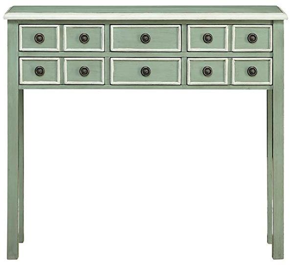 Treasure Trove Green Console Table
