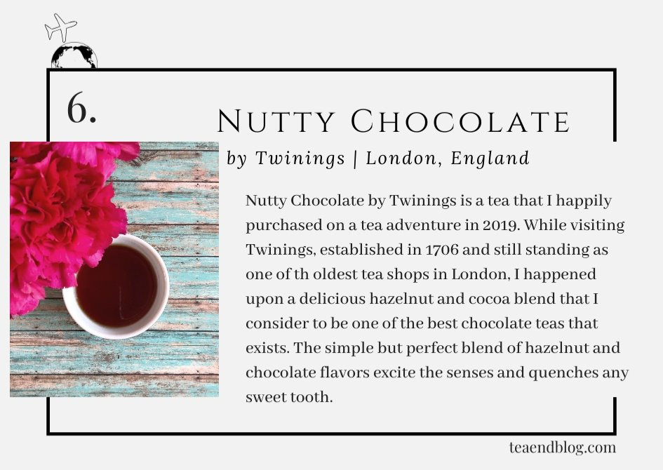 Top Ten Teas of 2019: Nutty Chocolate by Twinings | London, England