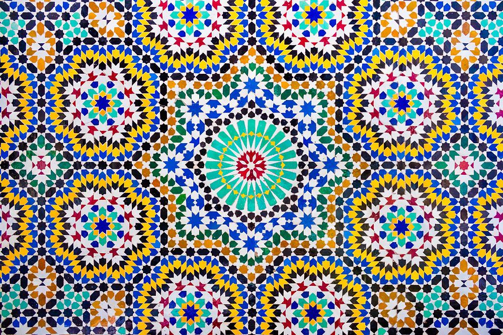 Zellige, a Moroccan tile design
