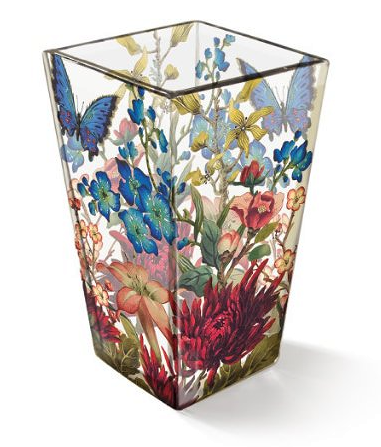 "Glass Flower Vase Inspired by ""Shakespeare's Garden"""