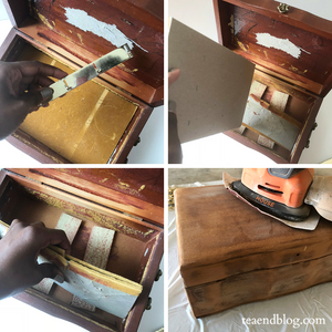 DIY: Second-hand Jewelry Box Into A Like-new Tea Box!