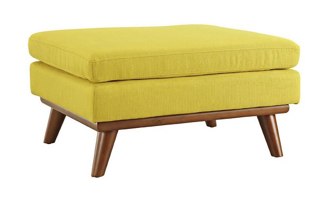 LexMod Engage Fabric Ottoman, Sunny | $262.48+tax