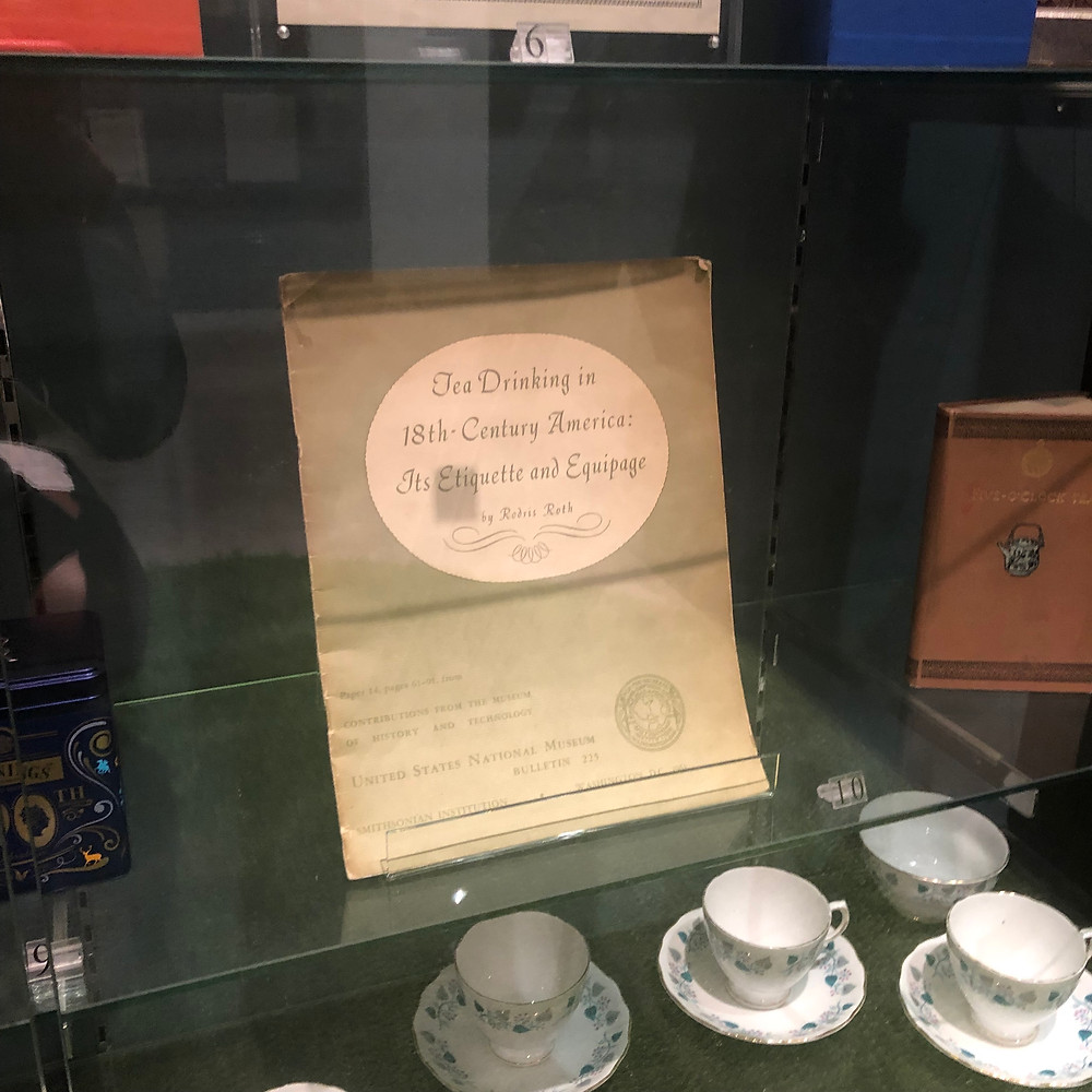 """ Tea Drinking in 18th-Century America"" It's Etiquette and Quipage""; a manual within the Twinings Museum"