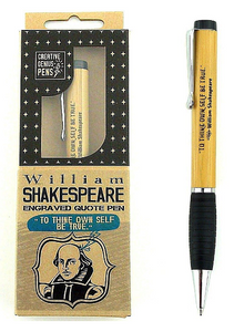 "William Shakespeare Engraved Quote Pen ""To Thine Own Self Be True"""