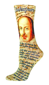 William Shakespeare Comfy & Cozy Reading Socks
