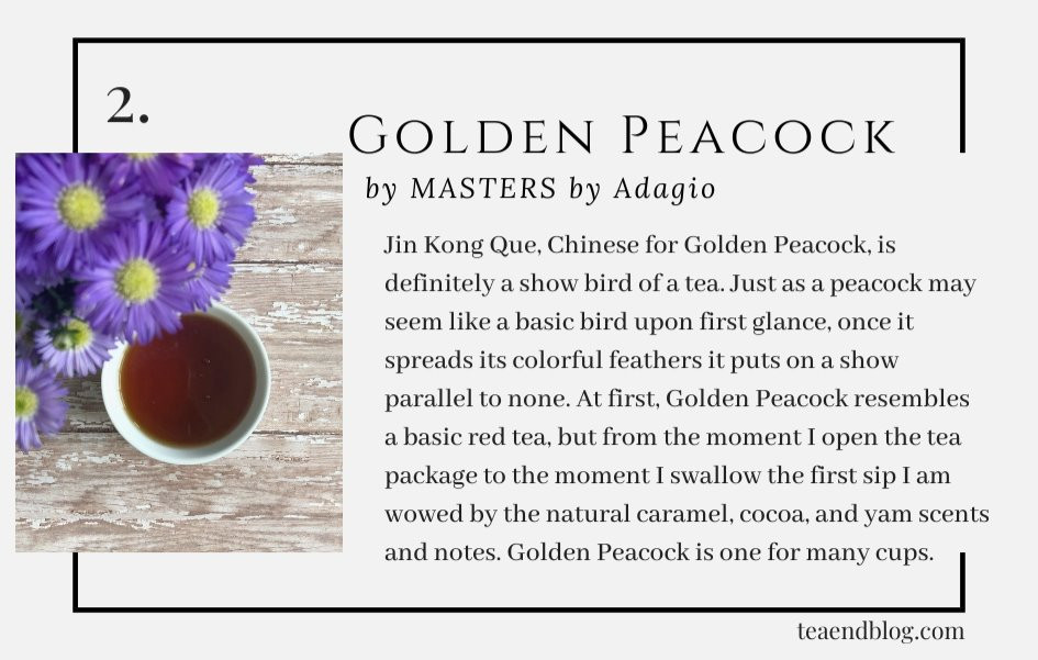Top Ten Teas of 2019: Golden Peacock by MASTERS by Adagio