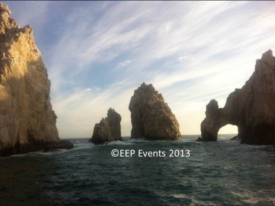The Arch of Cabo San Lucas, where the Sea of Cortez meets the Pacific Ocean.