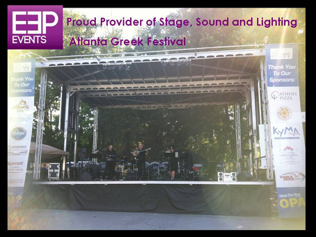 EEP Events Provides Pro Sound, Lighting and Stage for Atlanta Greek Festival