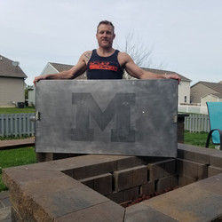 DJ with Minor's Fire Pit Topper