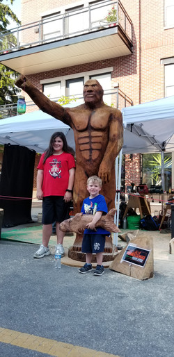 Woody the Sasquatch displayed at the Gra