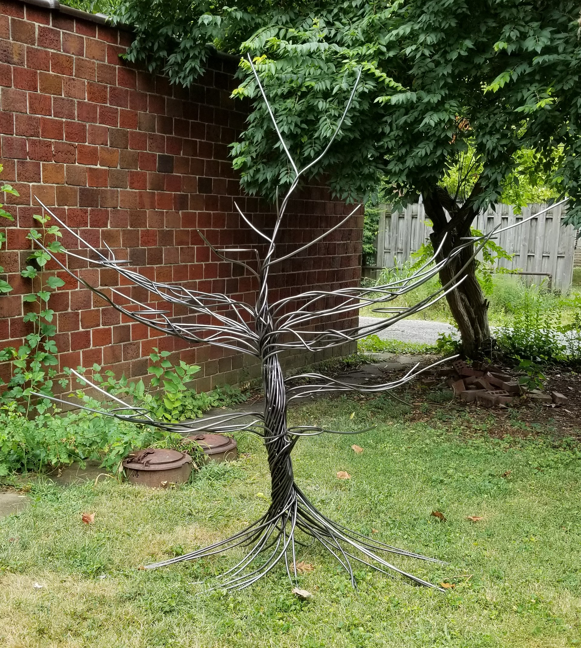 (Sold)  Steel Display Tree