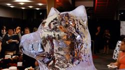 Ice Wolf Head