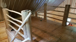Owl Cabin Step and Balcony Banister