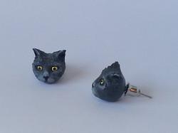 (Sold) Lanning's Custom Cat Earrings