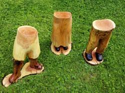 (Sold) Walks of Life leg logs trio