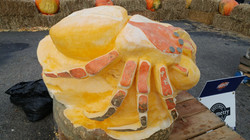 484.5 lbs. Spider Pumpkin Carving