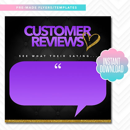 Customer Reviews (Purple and Gold)
