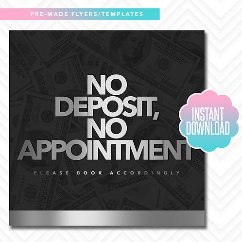 No Deposit, No Appointment (Silver)