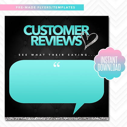 Customer Reviews (Turquoise and Silver)