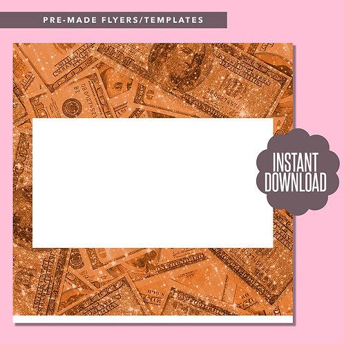 Blank Money Template (Orange)