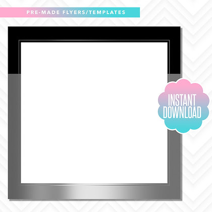 Blank Template (Black and Silver)