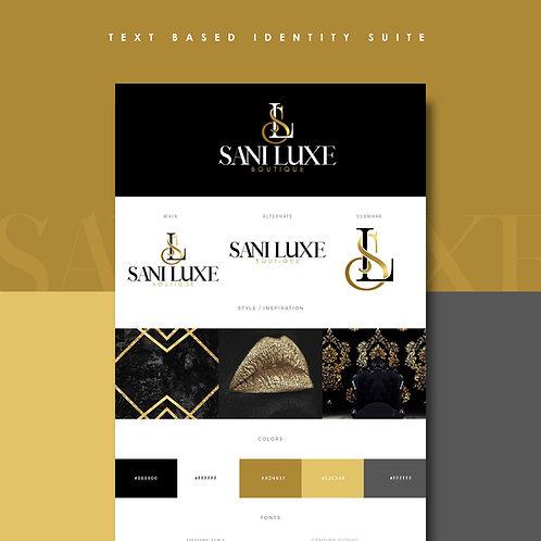 Text Logo Branding Identity Suite