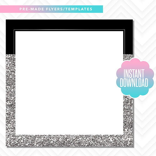 Blank Template (Black and Silver Glitter)