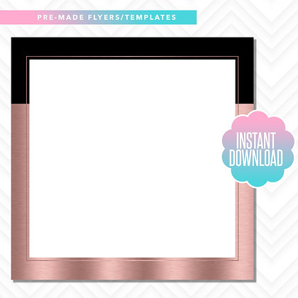 Blank Template (Black and Rose Gold)