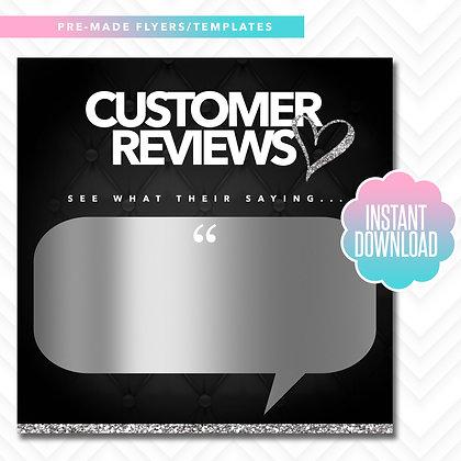 Customer Reviews (Black and Silver)
