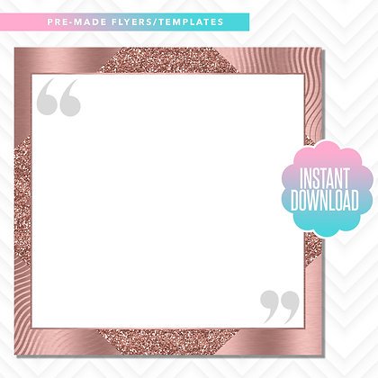 Quote Template (Rose Gold)