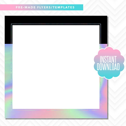 Blank Template (Black and Holographic)