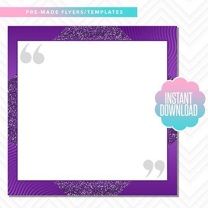 Quote Template (Purple)
