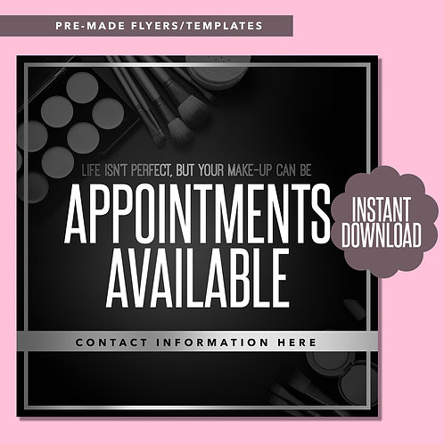 MUA Appointments Available (Silver)