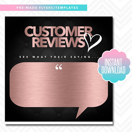 Customer Reviews (Rose Gold and White)