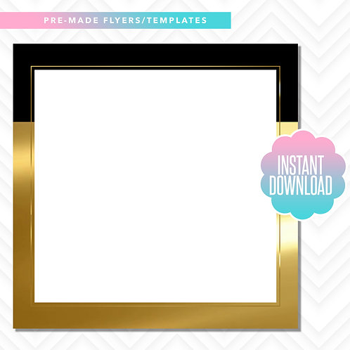 Blank Template (Black and Gold)