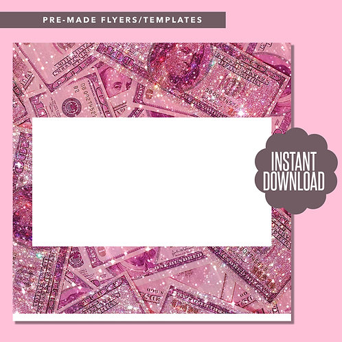 Blank Money Template (Pink)