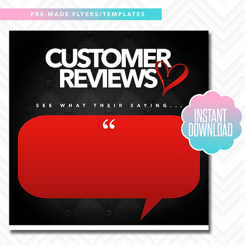 Customer Reviews (Black and Red)