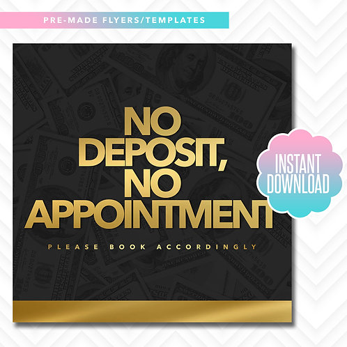 No Deposit, No Appointment (Gold)