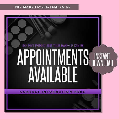 MUA Appointments Available (Purple)