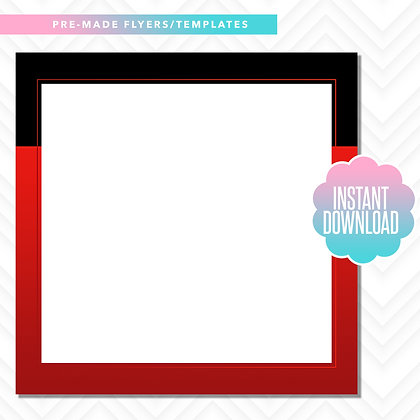Blank Template (Black and Red)