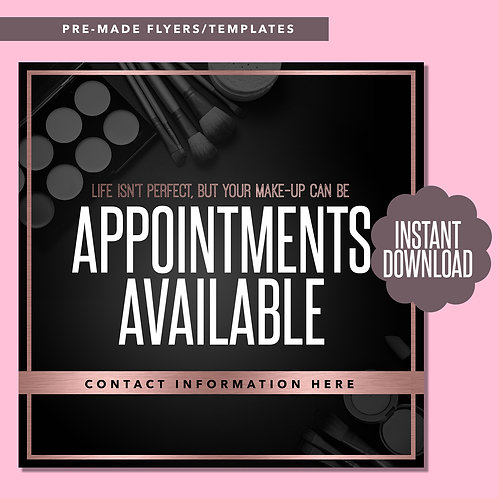 MUA Appointments Available (Rose Gold)