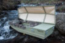 Boat Casket Coffin Fumeral Glory